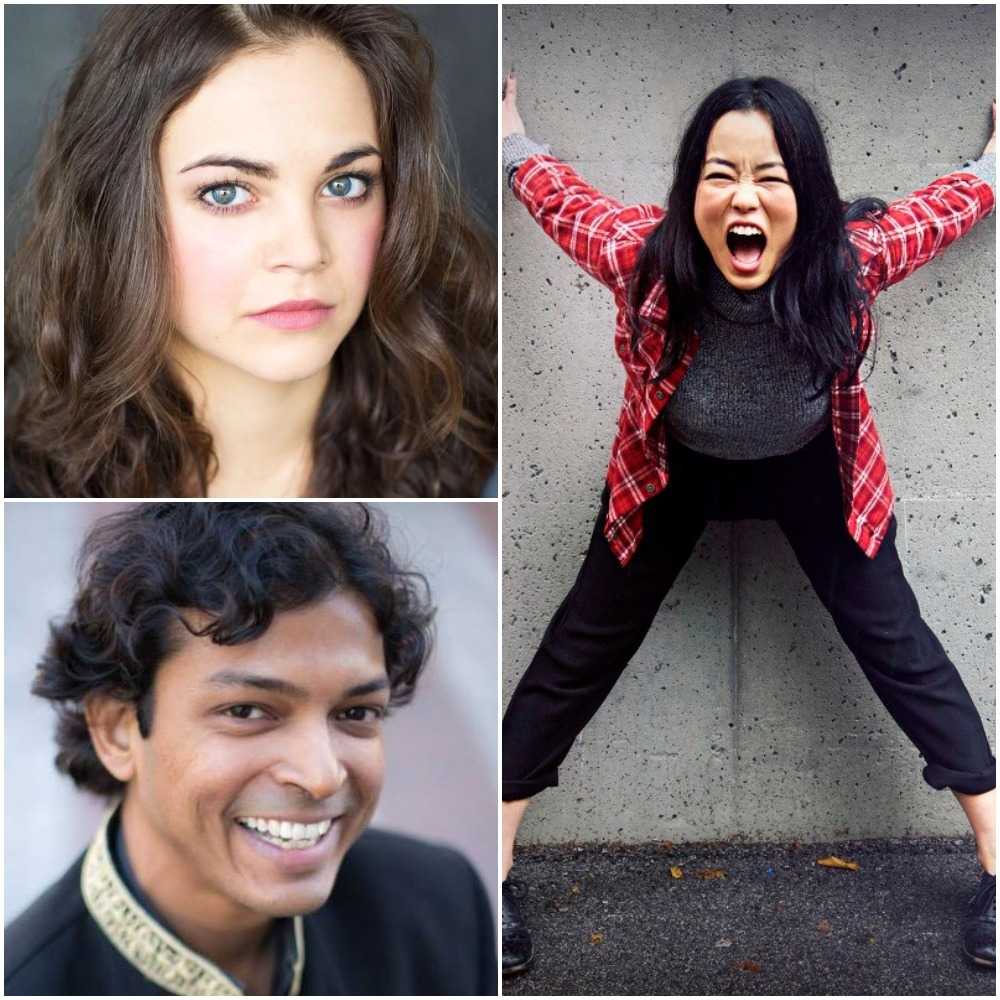 Clockwise from top left: Longtime Artist Services Coordinator Jess Amy Shead, 2018 Public Market Pick of the Fringe winner Diana Bang, and 2017 Public Market Pick of the Fringe winner Rohit Chokhani are our extra special guests for Fringe 101!